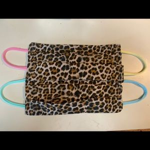 2 Leopard Print Masks Cover of Mouth & Nose New